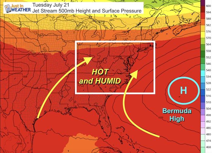 Weather pattern early next week